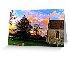Wondrous Sunsets. Greeting Card