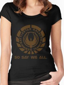 Battlestar Galactica Seal Women's Fitted Scoop T-Shirt