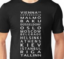 Road to the Song Contest Unisex T-Shirt