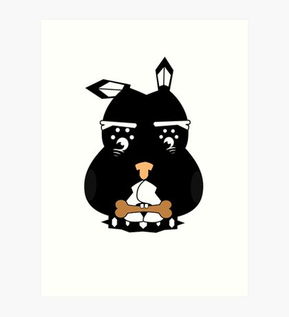Canis Lupus Familiaris: Ebony  Art Print