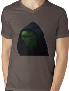 Dark Kermit Mens V-Neck T-Shirt