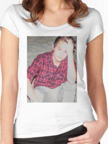 Justin Drew Blake Beach Women's Fitted Scoop T-Shirt