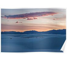 Sunset over White Sands National Monument, New Mexico Poster