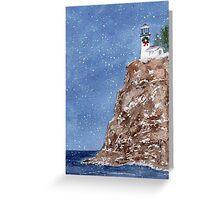 Christmas at the Light Greeting Card