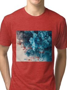 Abstract Colourful Paint in Water Tri-blend T-Shirt