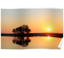 It's all about the light... Sunrise... Along the rural road, Free State, South Africa Poster