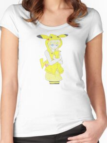 Pika-Girl T-shirt Women's Fitted Scoop T-Shirt