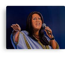 Aretha Franklin, The Queen of Soul  Painting Canvas Print
