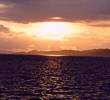 Sunset over Skye by spoilmesweetie