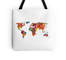 Map of The World 2 -Colorful Abstract Art Tote Bag
