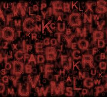 Alphabet Red by Colin Bentham