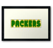 Packers Framed Print