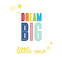 DREAM BIG QUOTE modern typography bright colors Photographic Print