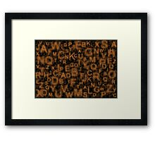Alphabet Orange Framed Print