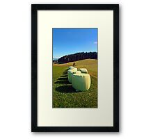 Marshmallows for cows | landscape photography Framed Print