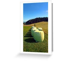 Marshmallows for cows | landscape photography Greeting Card