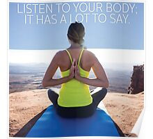 Listen To Your Body Poster
