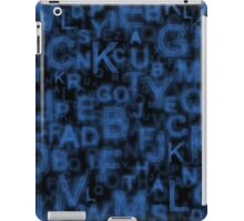 Alphabet Blue iPad Case/Skin