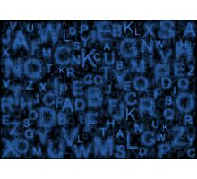Alphabet Blue Photographic Print