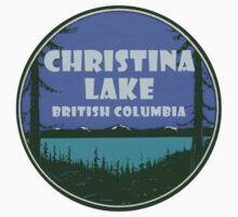 Christina Lake British Columbia Vintage Travel Decal Kids Tee
