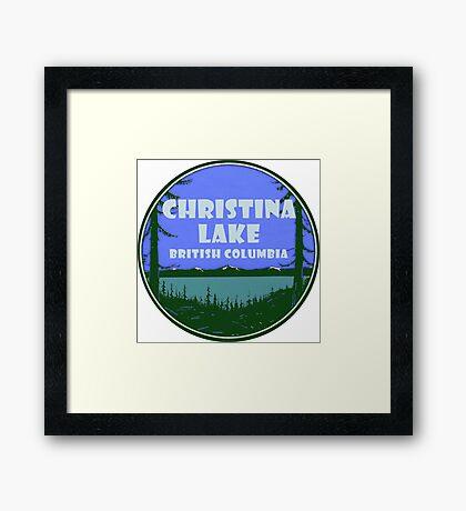 Christina Lake British Columbia Vintage Travel Decal Framed Print