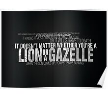 Lion vs Gazelle Poster