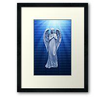 *•.¸♥♥¸.•*BLUE ANGEL RAYS OF LUV *•.¸♥♥¸.•*  Framed Print