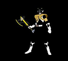 Mighty Morphin Armored Black Ranger iPhone / iPad case by simplepete
