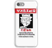 Rick Wanted Poster - Rick and Morty iPhone Case/Skin