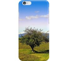 Fresh grass and old apple tree | landscape photography iPhone Case/Skin