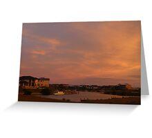 The Marina Hindmarsh Island at Dusk Greeting Card