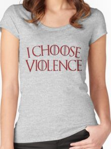 Game of Thrones - I Choose Violence Blood Red Women's Fitted Scoop T-Shirt
