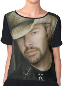 Toby Keith - Celebrity (Oil Paint Art) Chiffon Top