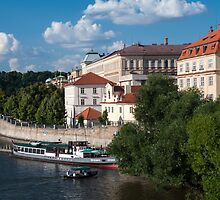 On the Shore of Vltava. Prague by JennyRainbow