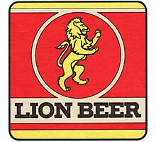 Lion Beer Coaster Photographic Print