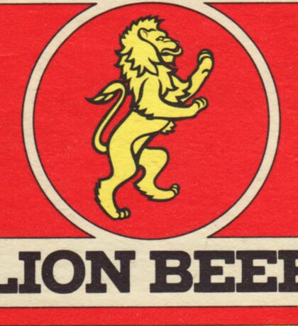 Lion Beer Coaster Sticker