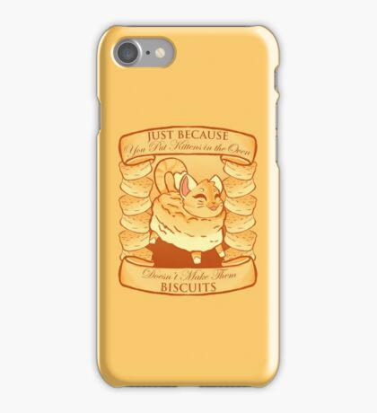 Kitty Biscuits - Cream/Orange iPhone Case/Skin