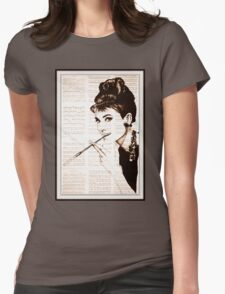 old book drawing famous people cal Womens Fitted T-Shirt