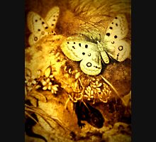 iPhone Case old print ornament embellishment 1884 butterfly Womens Fitted T-Shirt