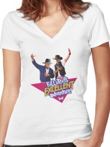 Westworld Bill and Ted Women's Fitted V-Neck T-Shirt