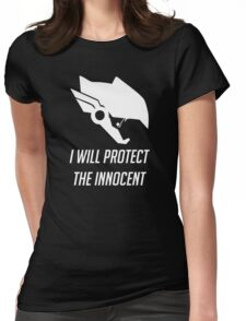Pharah - I Will Protect (Overwatch) Womens Fitted T-Shirt