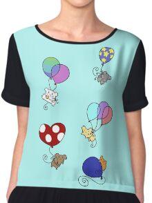 Balloon Mice Chiffon Top