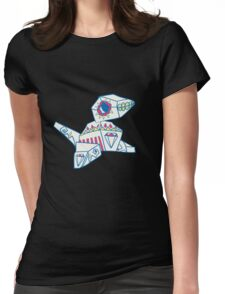Porygon Popmuerto | Pokemon & Day of The Dead Mashup Womens Fitted T-Shirt