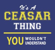 It's A CEASAR thing, you wouldn't understand !! by satro