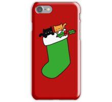 Black and Orange Stocking Kittens iPhone Case/Skin
