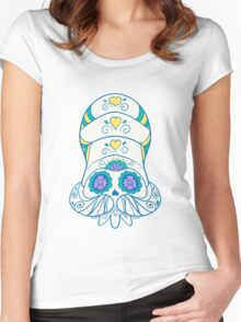 Omanyte Popmuerto | Pokemon & Day of The Dead Mashup Women's Fitted Scoop T-Shirt