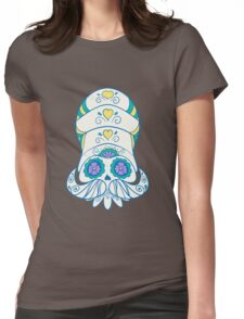 Omanyte Popmuerto | Pokemon & Day of The Dead Mashup Womens Fitted T-Shirt