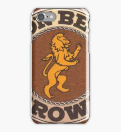 Lion Brown Beer Coaster iPhone Case/Skin