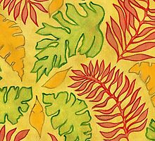Brush Stroke Jungle Leaves by sale