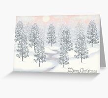 Snowy Day Winter Scene Merry Christmas Greeting Card